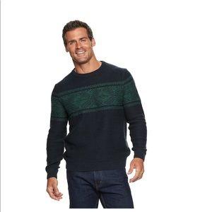 NWT Patterned crewneck sweater XXL